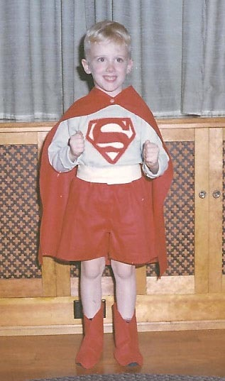 Photo of kid in Superman costome