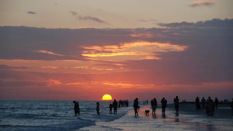 Photo of beach sunset