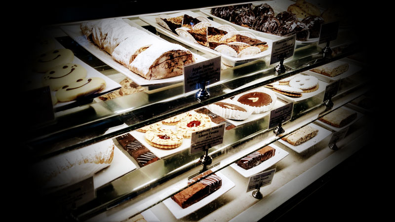 Photo of choices at a bakery