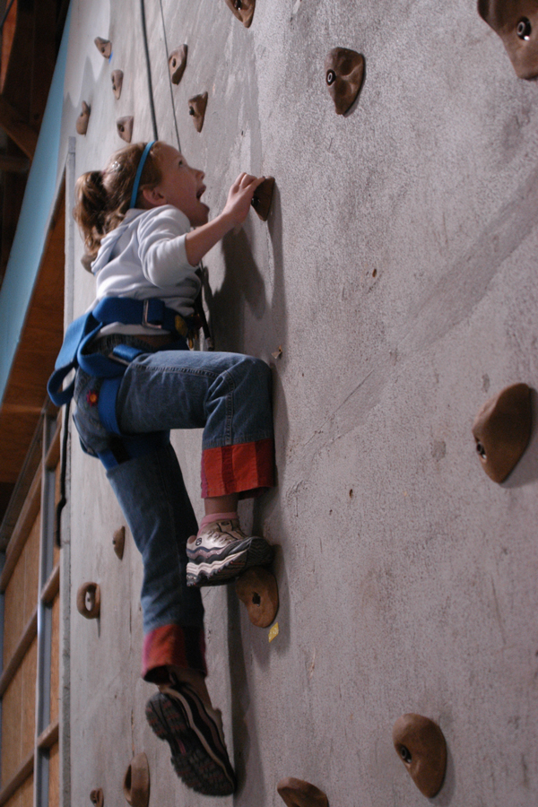 Photo of climbing a rock wall